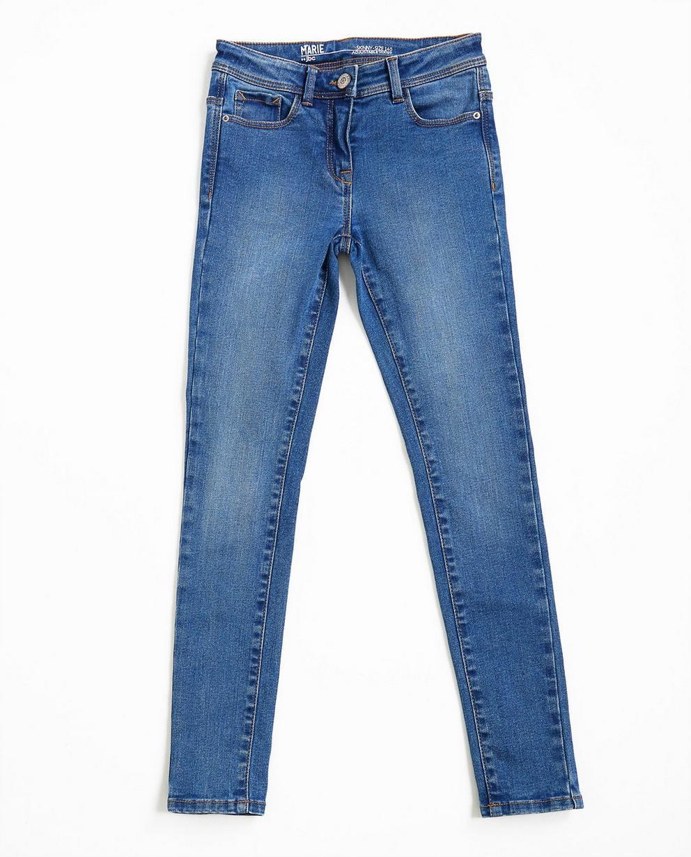 Jeans skinny bleu - légèrement délavé - JBC